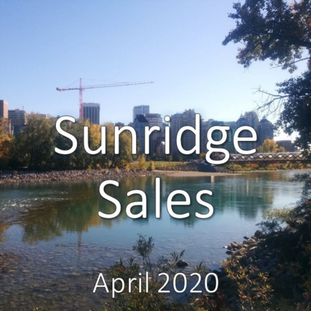 Sunridge Housing Market Update. April 2020