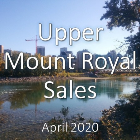 Upper Mount Royal Housing Market Update April 2020