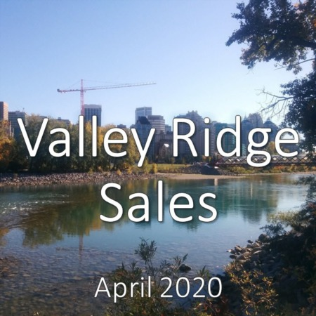 Valley Ridge Housing Market Update. April 2020