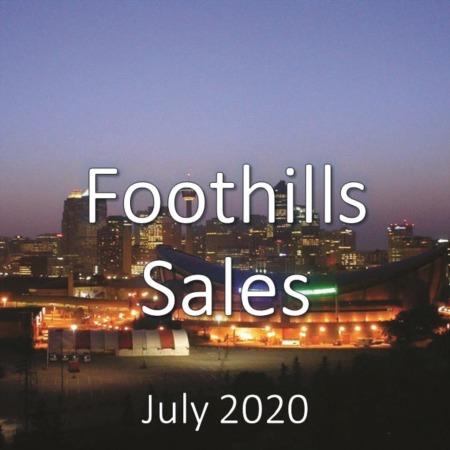 Foothills Housing Market Update July 2020