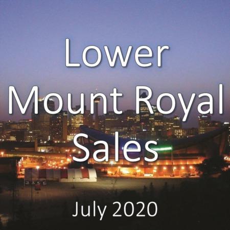 Lower Mount Royal Housing Market Update July 2020