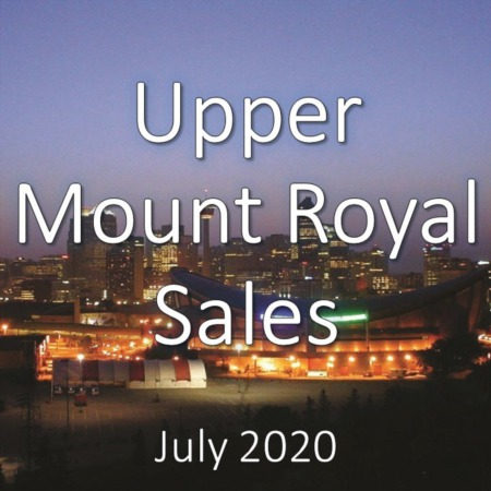 Upper Mount Royal Housing Market Update July 2020