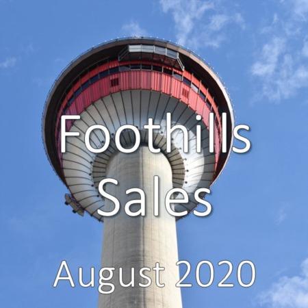 Foothills Housing Market Update August 2020