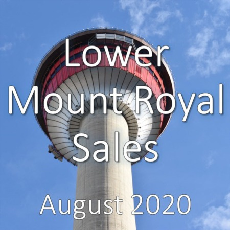 Lower Mount Royal Housing Market Update August 2020