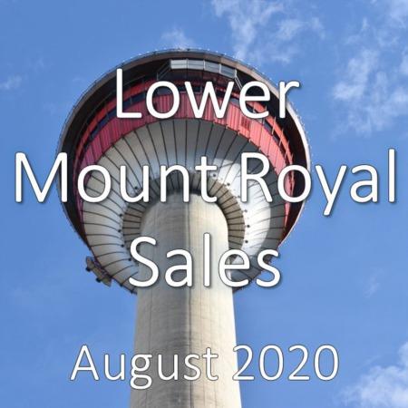 Lower Mount Royal Housing Market Update August 2020