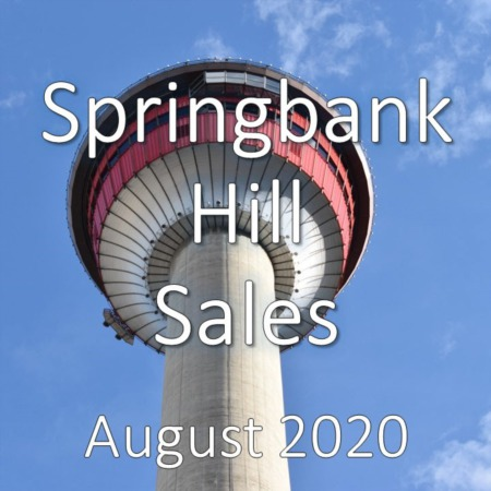 Springbank Hill Housing Market Update August 2020