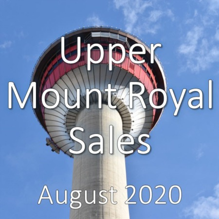 Upper Mount Royal Housing Market Update August 2020