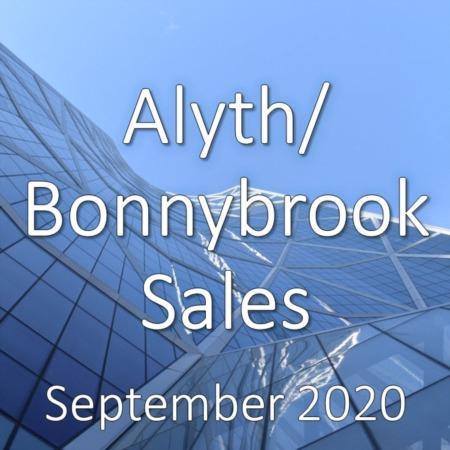 Alyth/Bonnybrook Housing Market Update September 2020