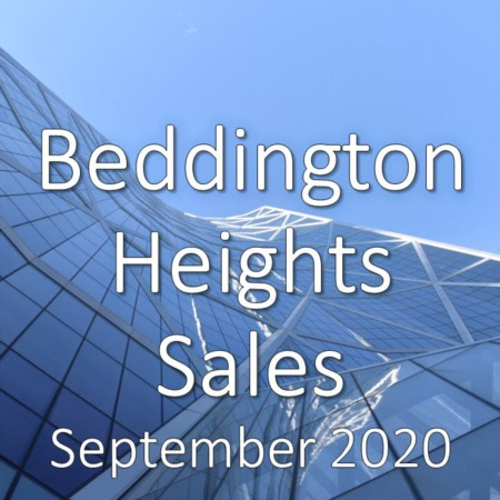Beddington Heights Housing Market Update September 2020