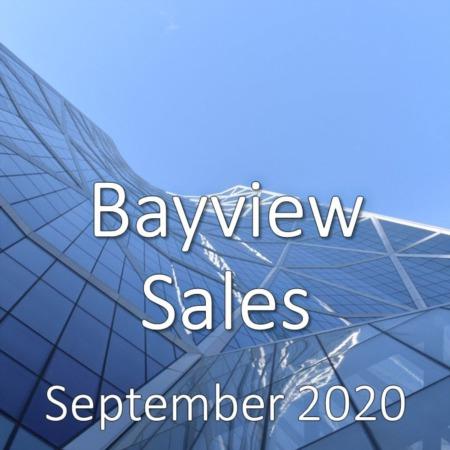 Bayview Housing Market Update September 2020