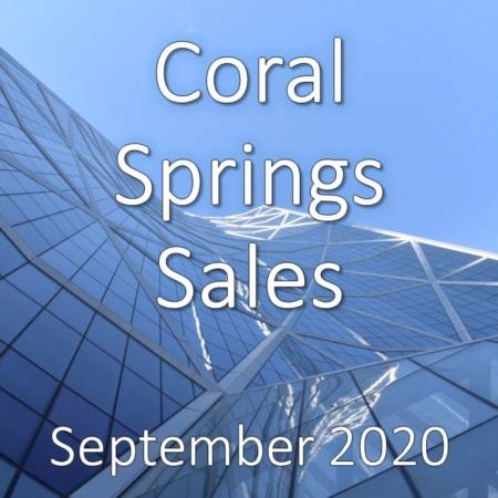 Coral Springs Housing Market Update September 2020
