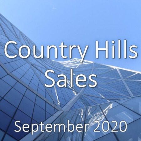 Country Hills Housing Market Update September 2020