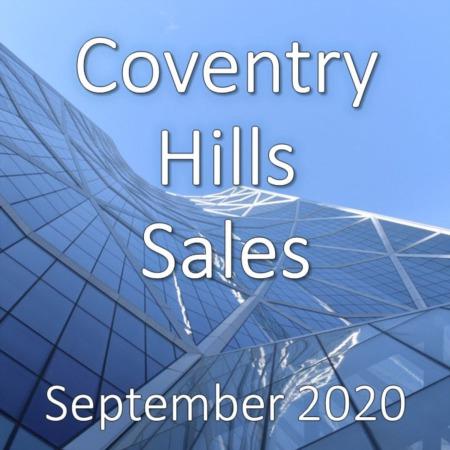 Coventry Hills Housing Market Update September 2020