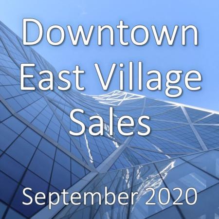 Downtown East Village Housing Market Update September 2020