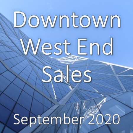 Downtown West End Housing Market Update September 2020
