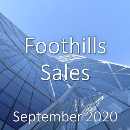 Foothills Housing Market Update September 2020