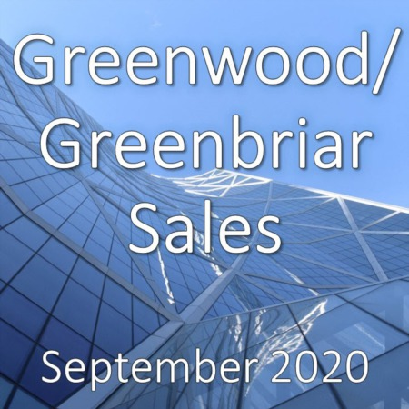 Greenwood/Greenbriar Housing Market Update September 2020