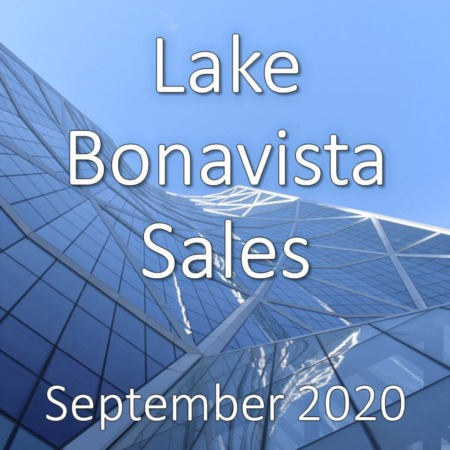 Lake Bonavista Housing Market Update September 2020