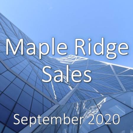 Maple Ridge Housing Market Update September 2020