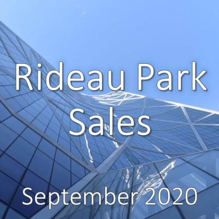 Rideau Park Housing Market Update September 2020