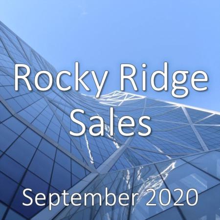 Rocky Ridge Housing Market Update September 2020