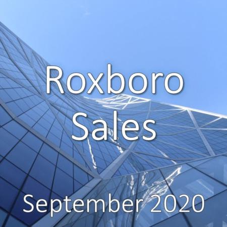Roxboro Housing Market Update September 2020