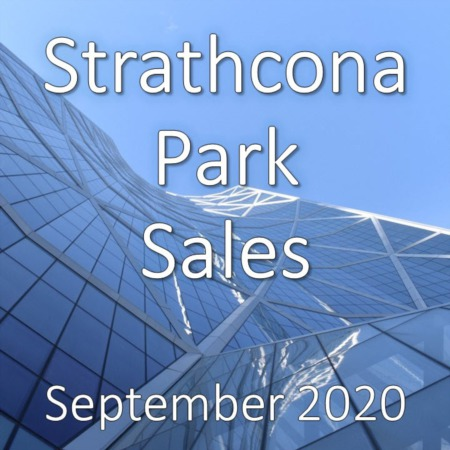 Strathcona Park Housing Market Update September 2020