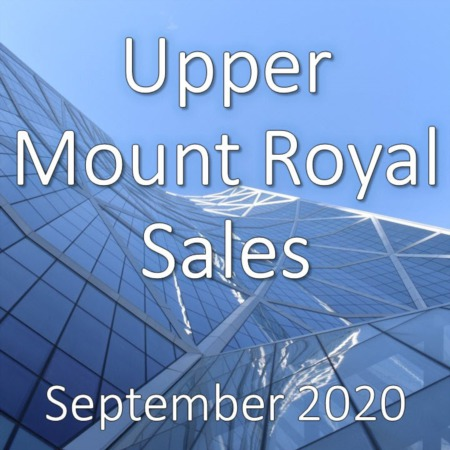Upper Mount Royal Housing Market Update September 2020