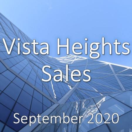 Vista Heights Housing Market Update September 2020