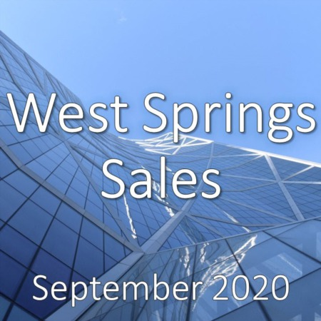 West Springs Housing Market Update September 2020