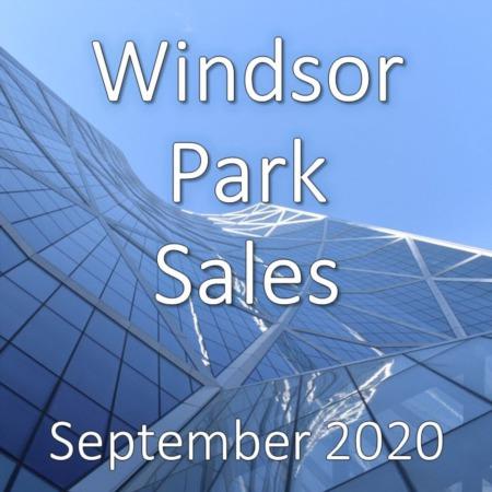 Windsor Park Housing Market Update September 2020