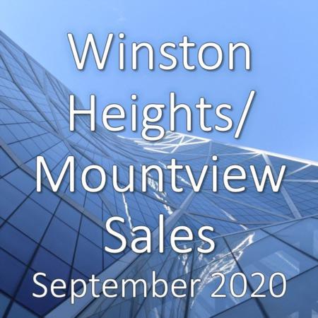 Winston Heights/Mountview Housing Market Update September 2020