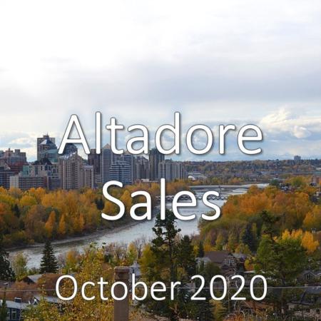 Altadore Housing Market Update October 2020