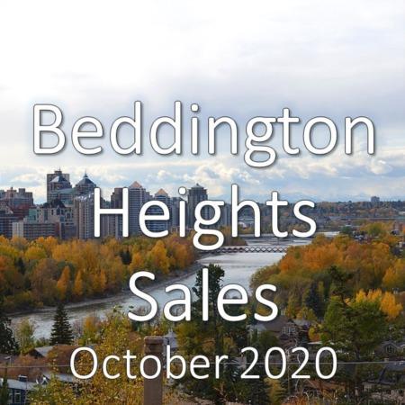 Beddington Heights Housing Market Update October 2020