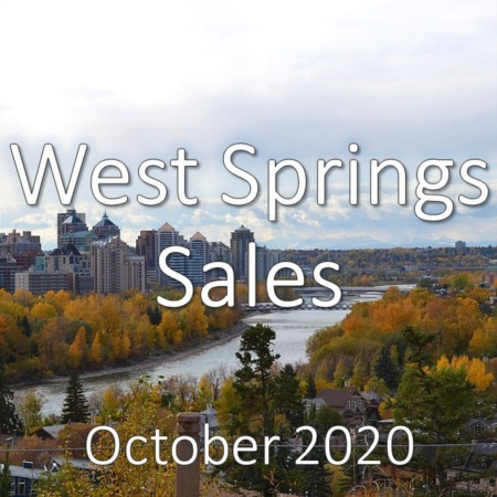 West Springs Housing Market Update October 2020
