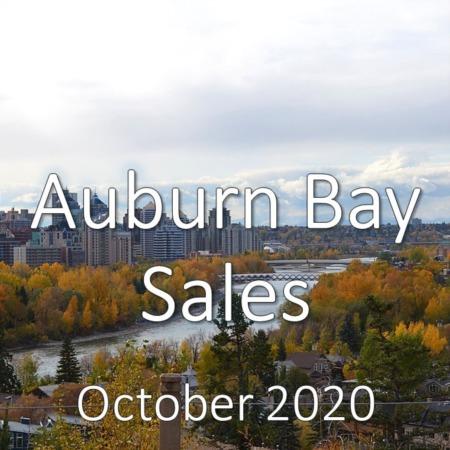 Auburn Bay Housing Market Update October 2020