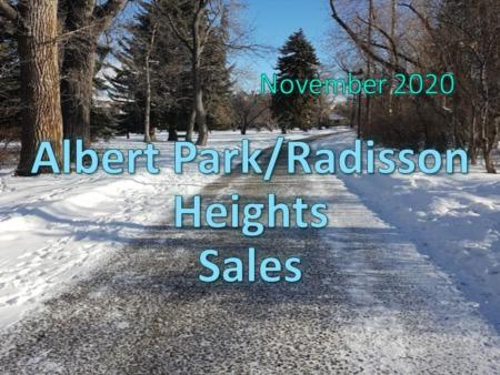 Albert Park/Raddison Heights Housing Market Update November 2020