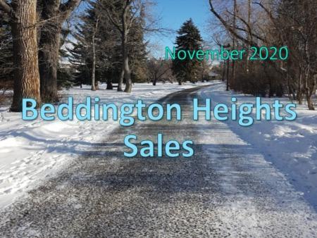 Beddington Heights Housing Market Update November 2020