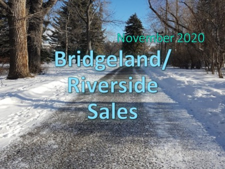Bridgeland/Riverside Housing Market Update November 2020