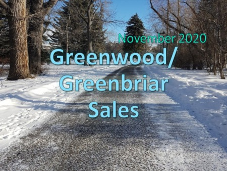 Greenwood/Greenbriar Housing Market Update November 2020