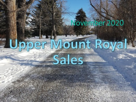 Upper Mount Royal Housing Market Update November 2020