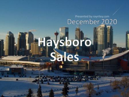 Haysboro Housing Market Update December 2020