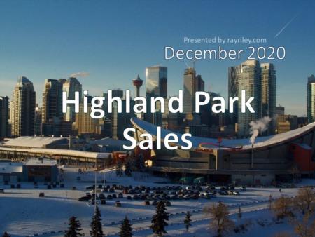Highland Park Housing Market Update December 2020