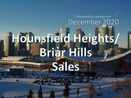 Hounsfield Heights/Briar Hill Housing Market Update December 2020