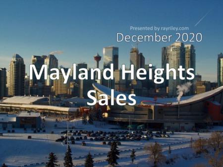Mayland Heights Housing Market Update December 2020