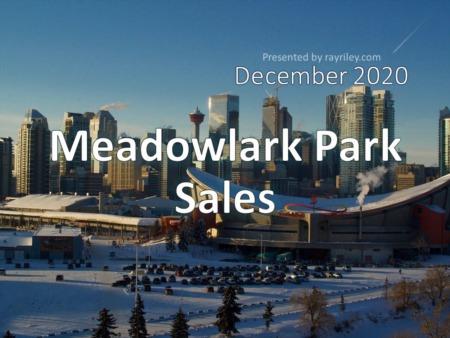 Meadowlark Park Housing Market Update Decemeber 2020