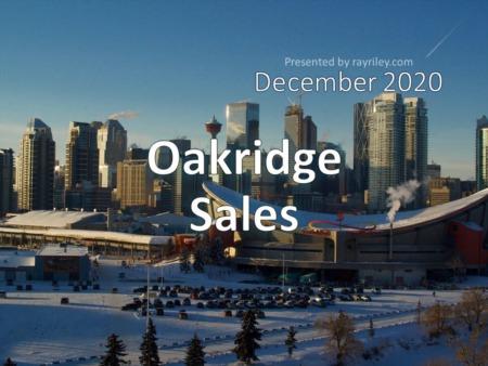 Oakridge Housing Market Update December 2020