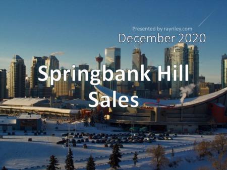 Springbank Hill Housing Market Update December 2020