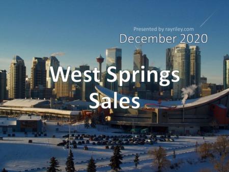 West Springs Housing Market Update December 2020