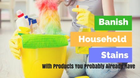 Banish Carpet Stains with Household Basics